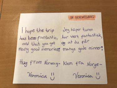 Tinderでマッチしたノルウェーの女の子に現地で誕生日プレゼントを渡してきた